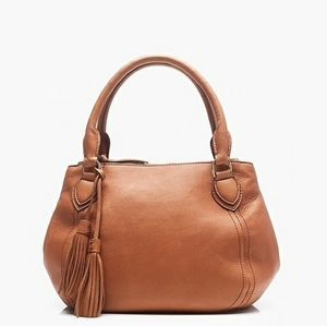 J. Crew Brown Leather Peyton Satchel Bag